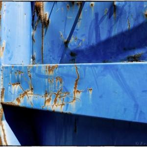 benne bleue rouille