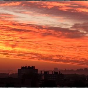 ciel nuage coucher de soleil Neuilly sur marne Seine Saint Denis France