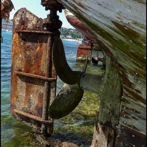 Hélice rouille bateau Bretagne France