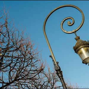 Lampadaire Place des Vosges Paris 4e arrondissement
