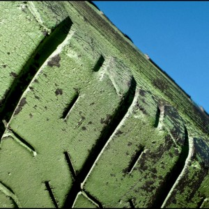pneu caoutchouc vert