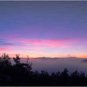 L'aurore vue du Pic de Fortunio - Lozère
