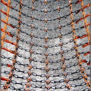 maillons plastique métal orange filet matière matériaux