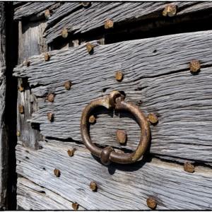 porte bois métal anneau