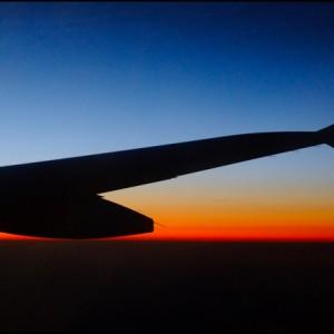 coucher de soleil voyage aile avion ombre