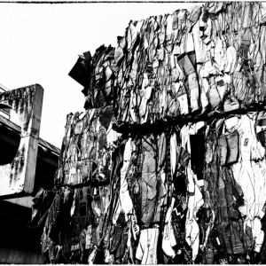compression papier déchet les arcades Noisy le Grand Seine Saint Denis flâneries