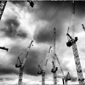 Des grues de chantier (Paris 17ème)