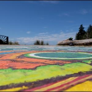 Roberts Creek Mandala painting (Colombie britannique - Canada)