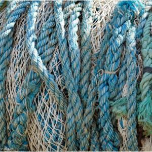 Cordes et filets sur le port de Tobermory sur l'île de Mull (Ecosse)