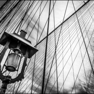 Sur le pont de Brooklyn, New York, USA