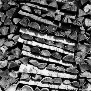 Stère de bois en Lozère (France)