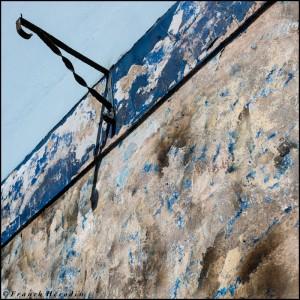 Mur défraichis à Tobermory sur l'île de Mull (Ecosse)